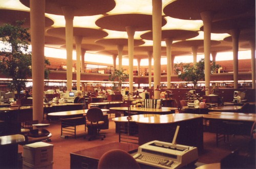 Interior of Johnson Wax office building