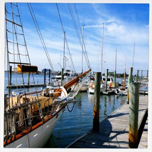 Beaufort, NC at the marina