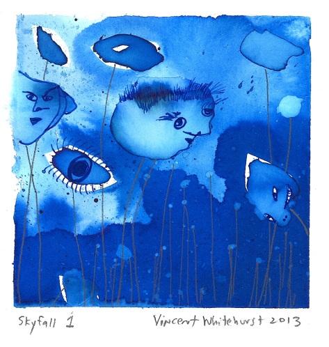 """""""Skyfall 1"""" - 4 1/2"""" x 4 1/2"""" - vw2013"""
