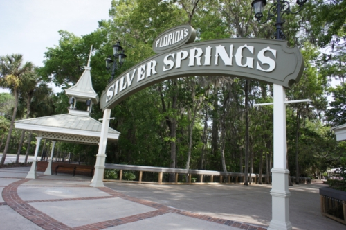 Entry to Silver Springs, near Ocala, Florida
