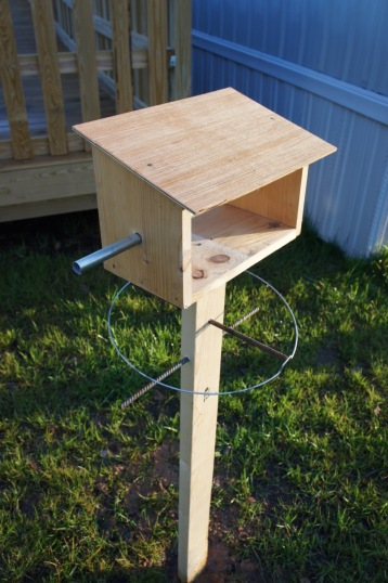 Preliminary bird shelter project, where we focused on wood and steel