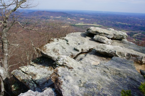 "On ""House Rock"" at Hanging Rock State Park"